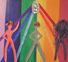 "Rainbow women by Robin ""Durga"" Hoffman"