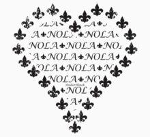 NOLA Fleur de Lis Heart (Black) One Piece - Short Sleeve