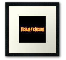Tesla/Edison vs. AC/DC (Monsters of Grok) Framed Print