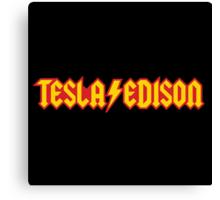 Tesla/Edison vs. AC/DC (Monsters of Grok) Canvas Print