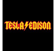 Tesla/Edison vs. AC/DC (Monsters of Grok) Photographic Print