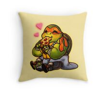 Chibi Michelangelo Throw Pillow