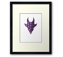 Dice Dragon - Purple Framed Print