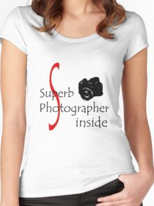 Superb Photographer Women's Fitted Scoop T-Shirt