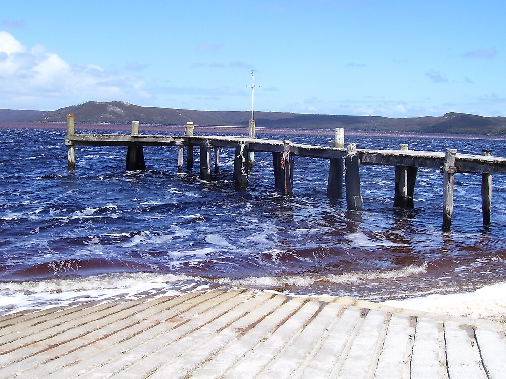 jetty at Macquarie Heads, Strahan, Tasmania by gaylene