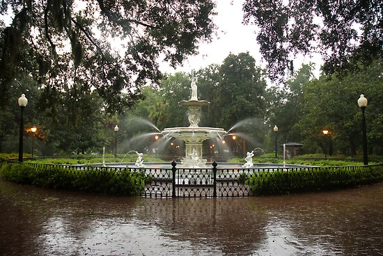 "The Fountain In Forsyth Park by Arthur ""Butch"" Petty"