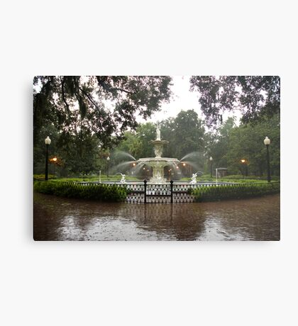 The Fountain In Forsyth Park Metal Print