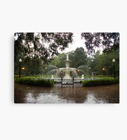 The Fountain In Forsyth Park Canvas Print