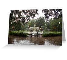 The Fountain In Forsyth Park Greeting Card