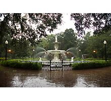 The Fountain In Forsyth Park Photographic Print