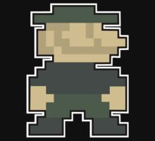 Call Of Duty 8-Bit Mario Emblem for dark shirts by WhyTee1300