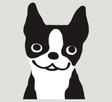 Boston Terrier Smiling Face by Jenn Inashvili
