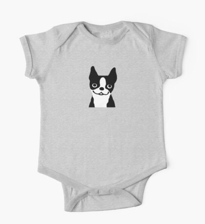 Boston Terrier Smiling Face One Piece - Short Sleeve