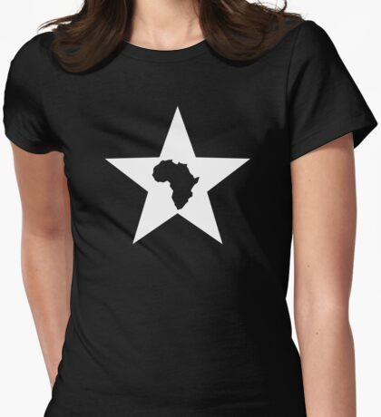 AFRICAN STAR Womens Fitted T-Shirt