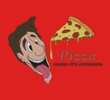 Pizza - cause it's awesome Kids Tee