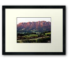 photoj Tas, Mt Roland, Sunrise Framed Print