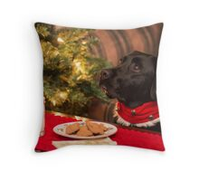Happy Holly Days Throw Pillow