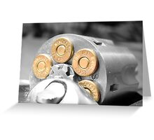.357 mag Greeting Card