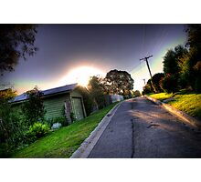 Sunset in Suburbia Photographic Print