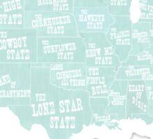 USA state slogans Sticker