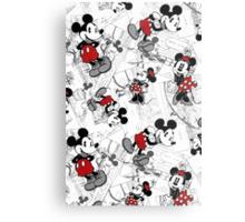 Vintage Minnie & Mickey Metal Print