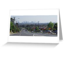 Melbourne in Distance Greeting Card