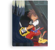 KH: Riku-Ansem Battle Metal Print