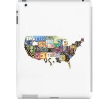 USA vintage license plates map iPad Case/Skin