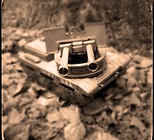 Toy Tank in Forest by ACappellari