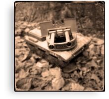Toy Tank in Forest Canvas Print