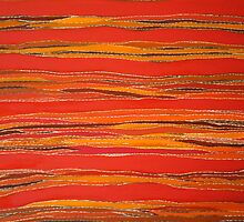 landscape art-tribal influences by sunset
