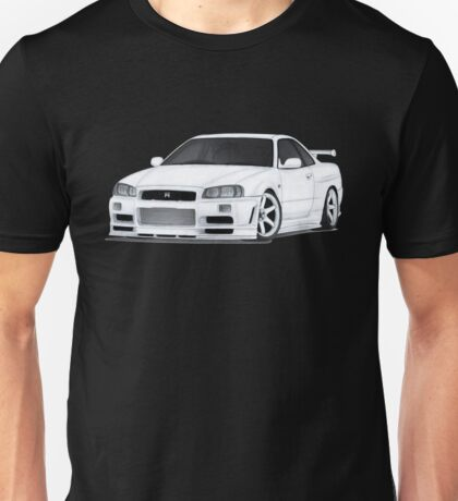NISSAN SKYLINE GTR DRAWING Unisex T-Shirt