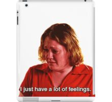 the girl that doesn't even go here iPad Case/Skin