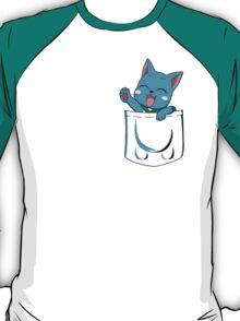 t-shirt Happy pocket t-shirt Fairy tail t-shirt Happy t-shirt pocket T-Shirt