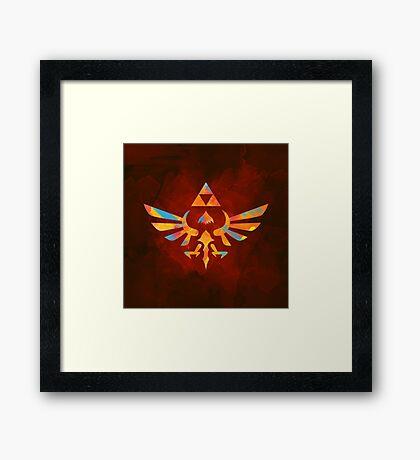 Skyward Sword Paint Orange Framed Print
