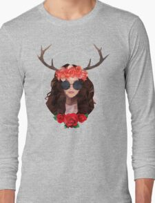 Analog girl in a digital world  Long Sleeve T-Shirt