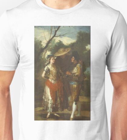 Francisco Goya - A Maja With Two Toreros 1779 - 1780 Unisex T-Shirt