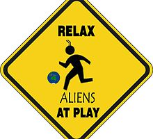 RELAX ALIENS AT PLAY by Dataman