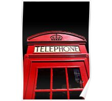 Red London Telephone Box Poster