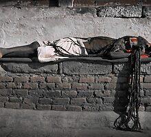Sleeping Sadhu by wellman