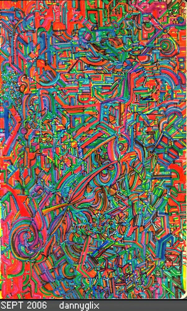 red glitch board by acid
