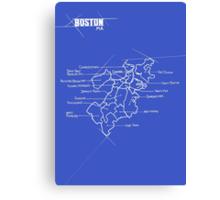 City Blueprints (Boston) Canvas Print