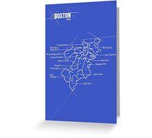 City Blueprints (Boston) Greeting Card