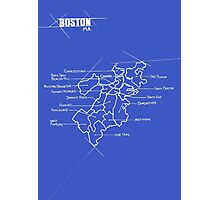 City Blueprints (Boston) Photographic Print