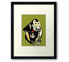 This Monkey Means Business Framed Print