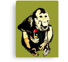 This Monkey Means Business Canvas Print