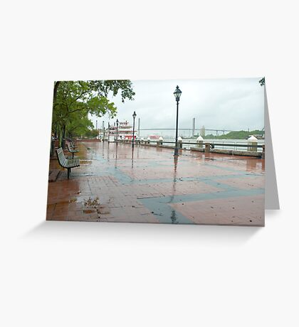 River Street, Savannah Greeting Card