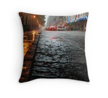 River Street, Savannah 2 Throw Pillow