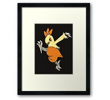 Kicking It With Combusken Framed Print