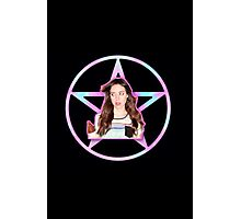 Aubrey Plaza Pentagram Photographic Print